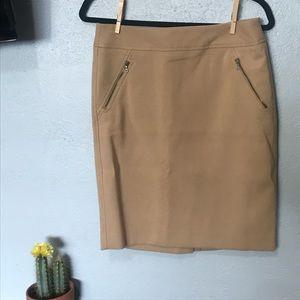 LOFT NWT camel pencil skirt